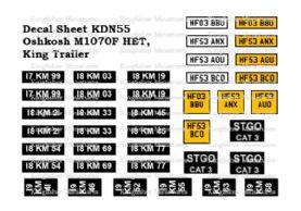 Oshkosh M1070F HET & King Trailer